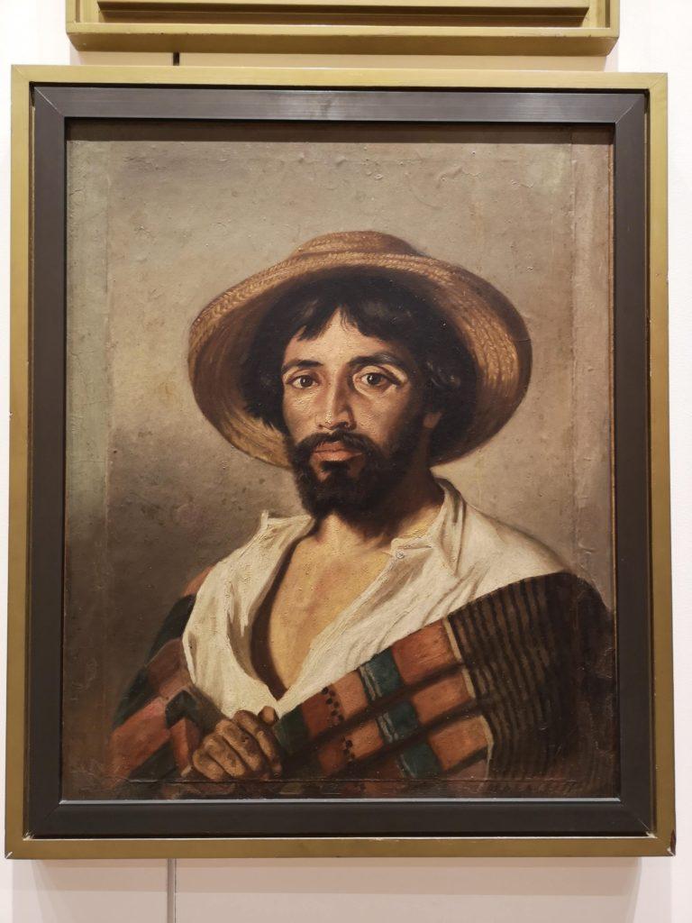 Hombre del Sarape de Felipe Santiago Gutiérrez en el Museo Regional
