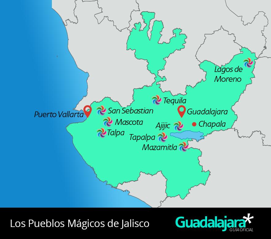 Los Nueve Pueblos Mágicos de Jalisco