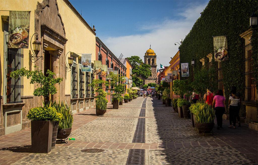 Calle Peatonal en el Centro de Tequila, Jal.
